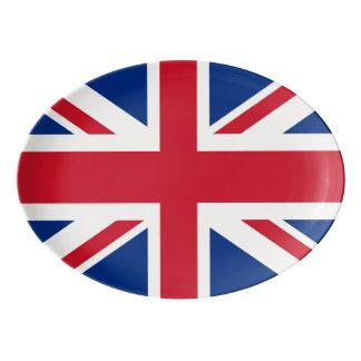 Travessa De Porcelana Bandeira real BRITÂNICA de Grâ Bretanha Union Jack