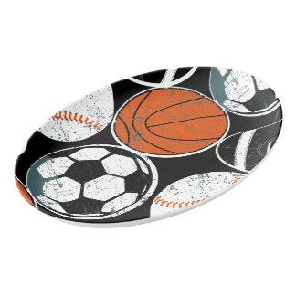 Travessa De Porcelana Bolas do esporte de equipe