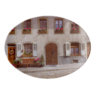 Travessa De Porcelana Casa na vila do Gruyère, suiça