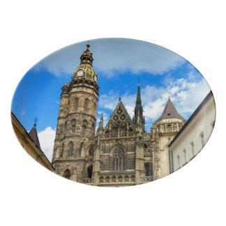 Travessa De Porcelana Catedral do St. Elisabeth em Kosice, Slovakia
