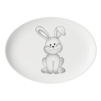 Travessa De Porcelana Clipart branco do coelho