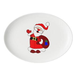 Travessa De Porcelana Clipart do saco de Papai Noel e de presente