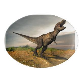 Travessa De Porcelana Dinossauro do rex do tiranossauro - 3D rendem
