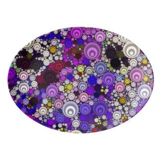 Travessa De Porcelana divertimento doce A da bolha