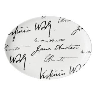 Travessa De Porcelana Escritores das mulheres