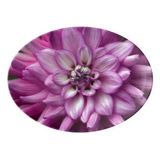 Travessa De Porcelana Flor roxa da dália