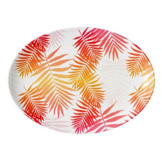 Travessa De Porcelana Folha da palmeira da decoração das mulheres em