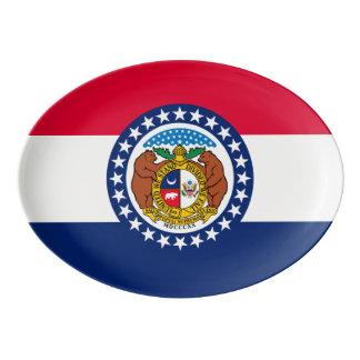 Travessa De Porcelana Gráfico dinâmico da bandeira do estado de Missouri