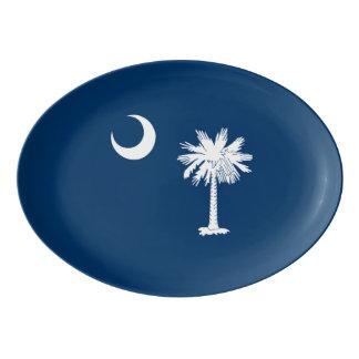 Travessa De Porcelana Gráfico dinâmico da bandeira do estado de South