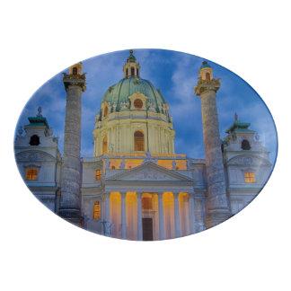 Travessa De Porcelana Igreja do santo Charles, Viena