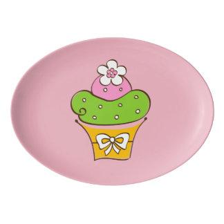 Travessa De Porcelana Ilustração de Cucake