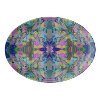 Travessa De Porcelana Labirinto das cores