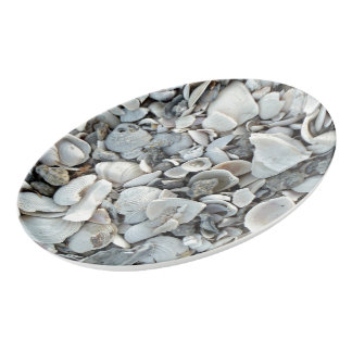 Travessa De Porcelana Lotes e lotes dos Seashells