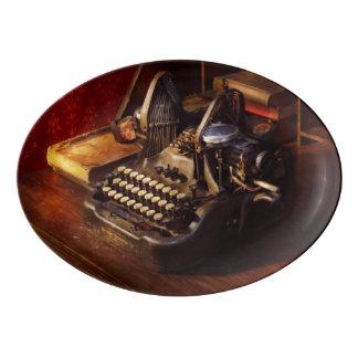 Travessa De Porcelana Máquina de dactilografia de Steampunk - de Oliver