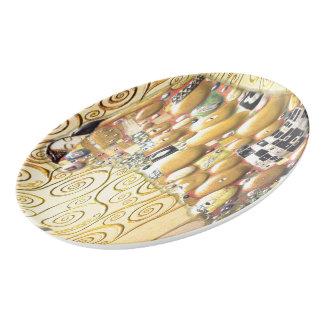 Travessa De Porcelana Meu Klimt Serie: Abraço