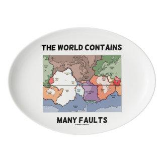 Travessa De Porcelana O mundo contem o humor do terremoto de muitas