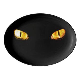 Travessa De Porcelana Olhos de gato