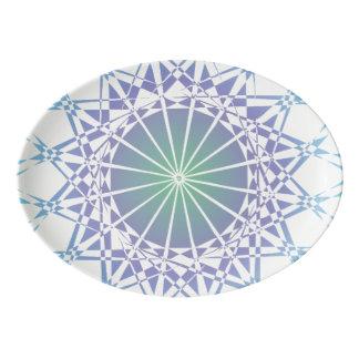 Travessa De Porcelana Ornamento 9