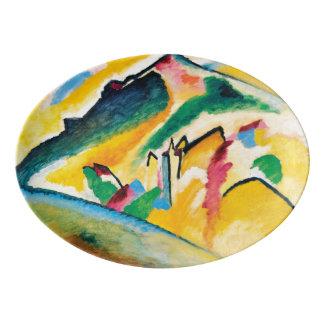 Travessa De Porcelana Paisagem do outono por Wassily Kandinsky