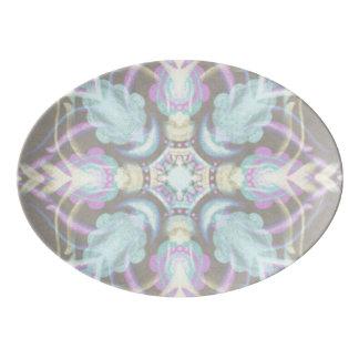 Travessa De Porcelana Pastel na mandala concreta da rua (variação)