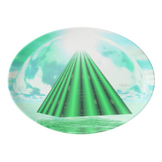 Travessa De Porcelana Pirâmide Mystical - 3D rendem
