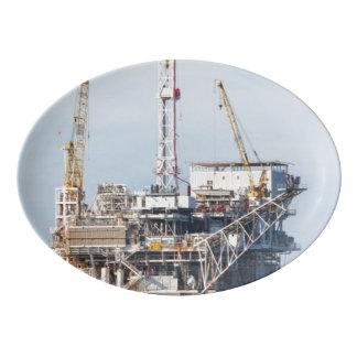 Travessa De Porcelana Plataforma petrolífera