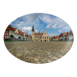 Travessa De Porcelana Praça da cidade velha em Bardejov, Slovakia