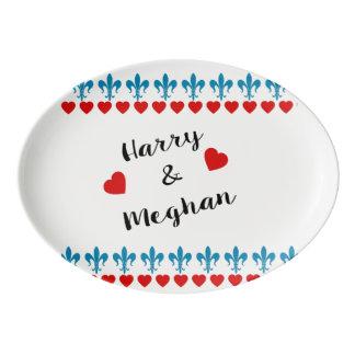 Travessa De Porcelana Quando Harry encontrou Meghan