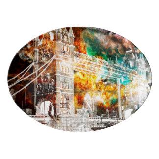 Travessa De Porcelana Respire outra vez sonhos de Londres