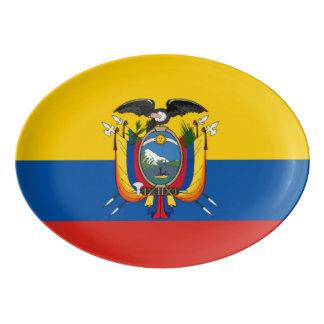 Travessa De Porcelana Símbolo da bandeira de país de Equador por muito