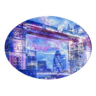 Travessa De Porcelana Sonhos da Londres do amante