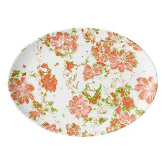 Travessa De Porcelana sonhos florais 12 D
