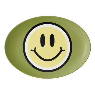Travessa De Porcelana Sorriso amarelo