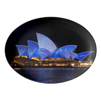 Travessa De Porcelana Teatro da ópera de Austrália Sydney na noite