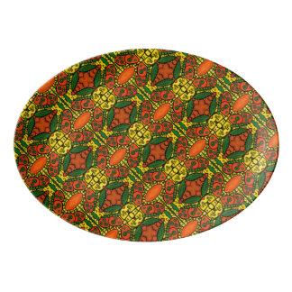 Travessa De Porcelana Teste padrão de borboleta amarelo verde alaranjado