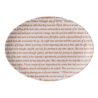 Travessa De Porcelana Texto do orgulho e do preconceito