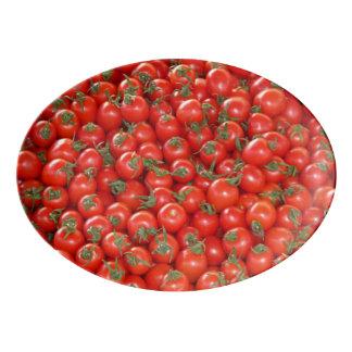 Travessa De Porcelana Tomates vermelhos da videira