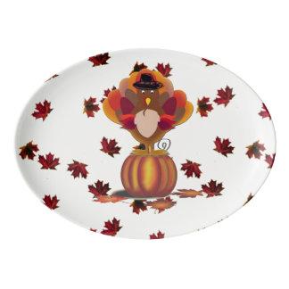 Travessa De Porcelana Turquia Standy na abóbora
