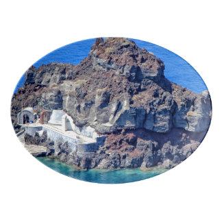 Travessa De Porcelana Vista panorâmica de Santorini