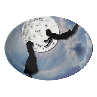 Travessa De Porcelana voe-me ao universo do corte do papel da lua