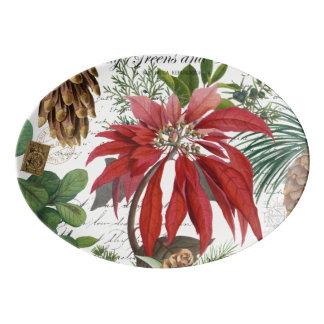 Travessa De Porcelana Wintergarden moderno do vintage floral
