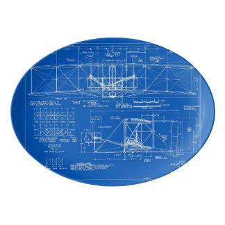 "Travessa De Porcelana Wright Bros. Modelo 1903 do ""insecto"""