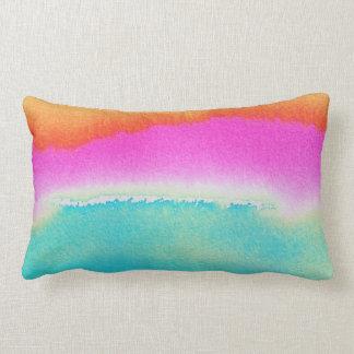 """Travesseiro abstrato 13"""" do algodão da aguarela X Almofada Lombar"""
