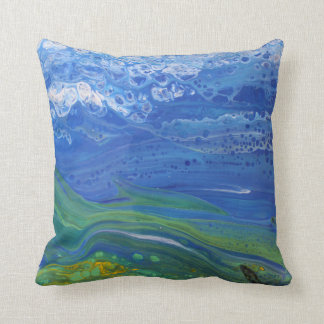 Travesseiro abstrato da paisagem almofada