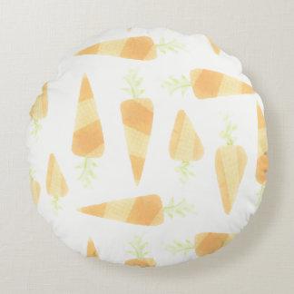 Travesseiro alaranjado da cenoura almofada redonda