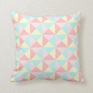 Travesseiro amarelo azul geométrico do rosa Pastel Almofada
