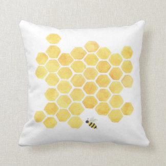 Travesseiro amarelo da colmeia do favo de mel almofada