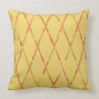Travesseiro amarelo e vermelho da terra do vintage almofada