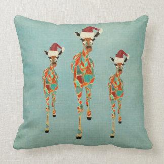 Travesseiro ambarino & Azure festivo   dos girafas Almofada