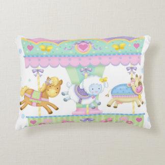 Travesseiro animal do acento do carrossel do bebê almofada decorativa